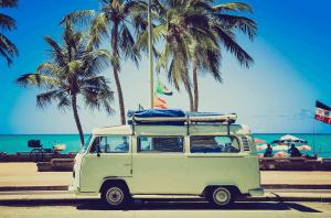 Viajar en coche caravana