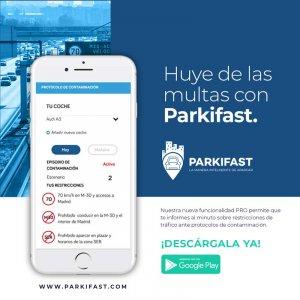 Evitar multas en protocolos de contaminación en Madrid con Parkifast.